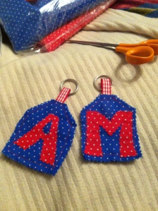 Keyrings for Anne and Marian