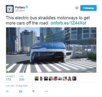 Straddling bus shared by main Forbes account